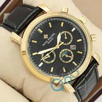 Наручные мужские часы Patek Philippe Classiс Black\Gold\Black