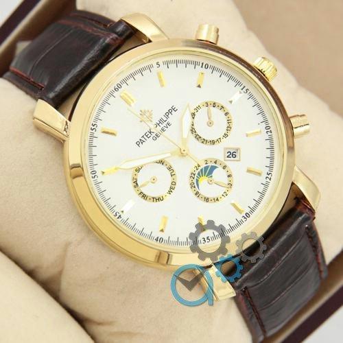 Наручные мужские часы Patek Philippe Classiс Brown\Gold\White