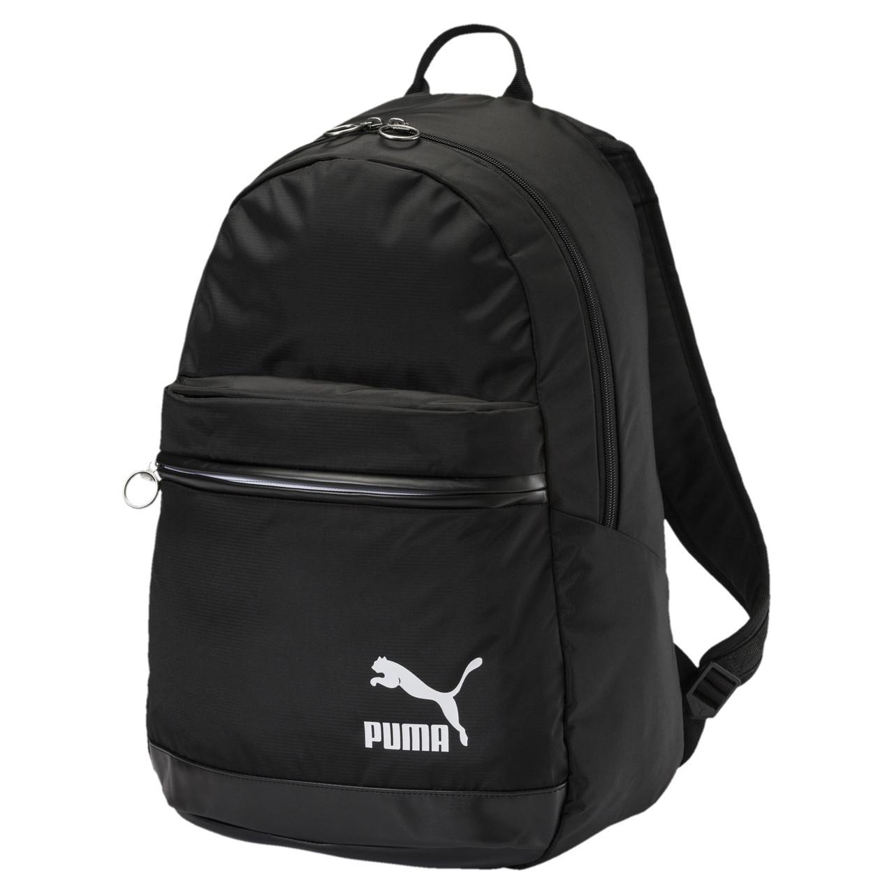 Рюкзак спортивный Puma Orginals Daypack 075086 01 (черный, мягкие ремни, отсек под ноутбук, 20 л, бренд пума)