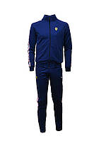 Спортивный костюм Пума x Феррари мужской темно-синий (реплика) полоска Puma x Ferrari Sports Suit Dark Blue