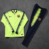 Детский спортивный костюм Барселона 2018-2019 салатовый размер 125-135 см