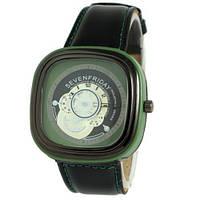 Наручные мужские часы Sevenfriday Leather Green-Black
