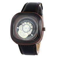 Наручные мужские часы Sevenfriday Leather Brown-Black