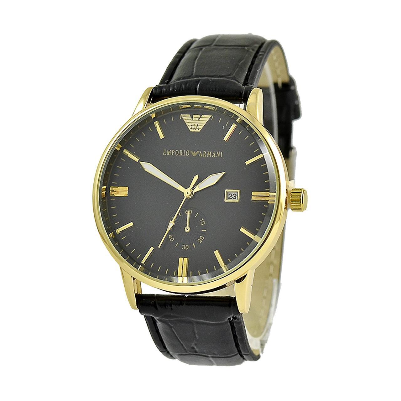 Наручные мужские часы Emporio Armani Quartz 4297 Black-Gold-Black