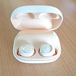 Bluetooth наушники беспроводные гарнитура Wi-pods MOSUM Power bank 2200 мА*ч. Дизайнерский оригинал. Беж, фото 3