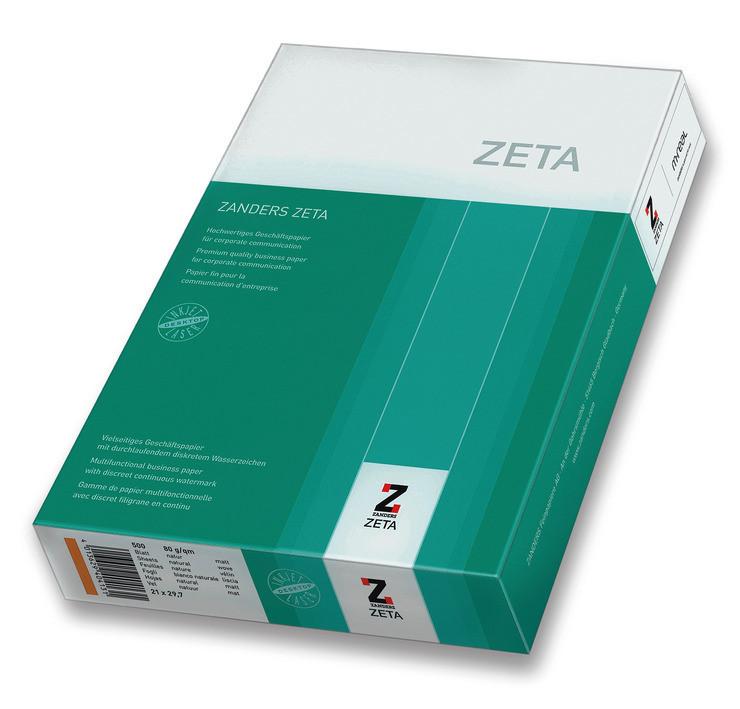 Бумага с водяными знаками Zanders Zeta А4 Лён 100 г/м2 500 листов бежевая