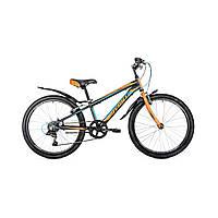 """Велосипед подростковый Avanti Sprinter V-brake 24"""" (черно-оранжевый с голубым)"""