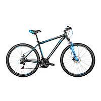 """Велосипед горный Avanti Smart 29"""" (черно-голубой)"""