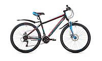 """Велосипед горный Intenzo Forsage 26"""" (черно-голубой с красным)"""