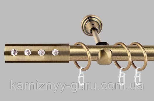 Карниз для штор ø 19 мм, одинарный, наконечник Алюр