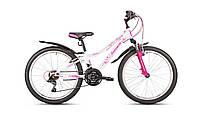 """Велосипед подростковый для девочки Intenzo Princess 24"""" (бело-розовый)"""