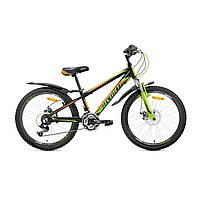 """Велосипед подростковый Avanti Sprinter Disk 24""""  (черно-салатовый с оранжевым)"""
