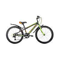 """Велосипед подростковый Avanti Sprinter V-brake 24"""" (черно-салатовый с оранжевым)"""