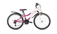 """Велосипед подростковый для девочки Intenzo Princess 24"""" (розово-белый)"""