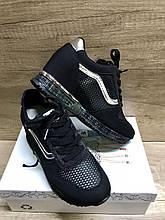 Черные женские кроссовки текстиль 810-1 Lonza