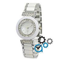 Наручные женские часы Gucci 8641 Quartz Silver-White