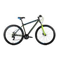 """Велосипед горный Avanti Skyline 29"""" (черно-салатовый с синим)"""