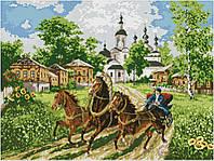Набор для вышивки крестом Бургундия. Размер: 50,5*37,8 см