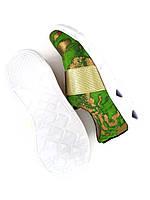 Детские оригинальные модные кроссовки зеленого цвета с золотым напылением Tobi 32р.