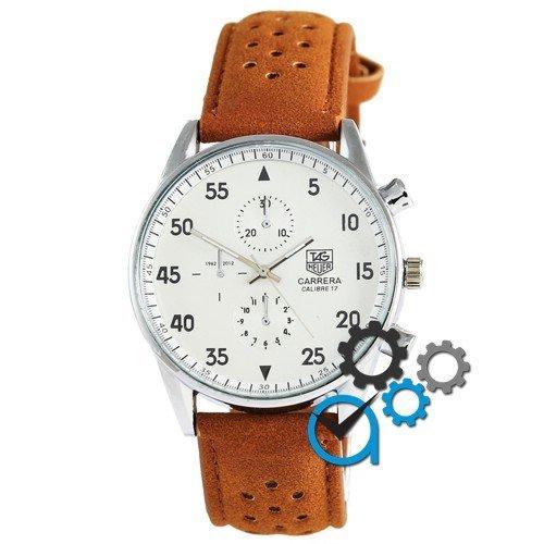 Наручные мужские часы TAG Heuer Carrera SpaceX Кварц Silver/White CL