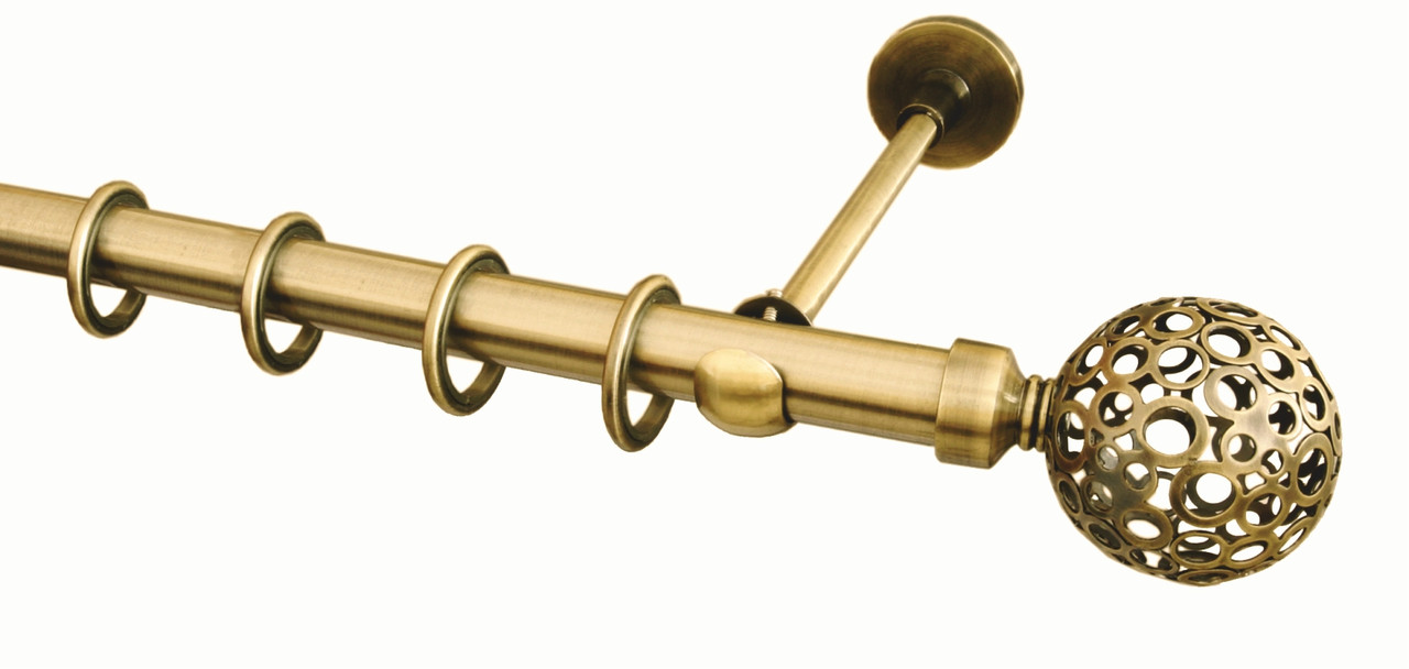 Карниз для штор ø 25 мм, одинарный, наконечник Савона