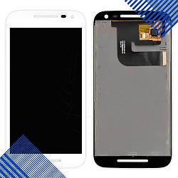 Дисплей Motorola XT1540 Moto G3 XT1541, XT1544, XT1548, XT1550 с тачскрином в сборе, цвет белый