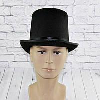 Шляпа Цилиндр высокий фетр 17 см (черный)