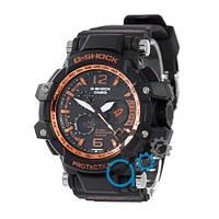 Наручные мужские часы Casio G-Shock GPW-1000 Black-Orange