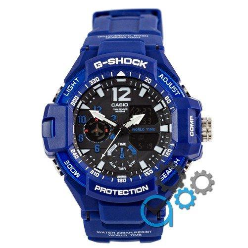 Наручные мужские часы Casio GA-1100 Blue-Black
