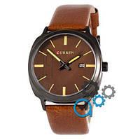 Наручные мужские часы Curren Black-Brown Brown dial 8212-4