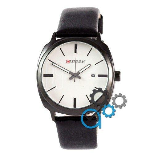 Наручные мужские часы Curren Black-Black White dial 8212-3