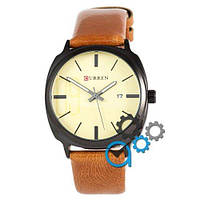 Наручные мужские часы Curren Black-Brown Gold dial 8212-2