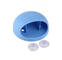 Настенный держатель для зубных щеток (голубой)