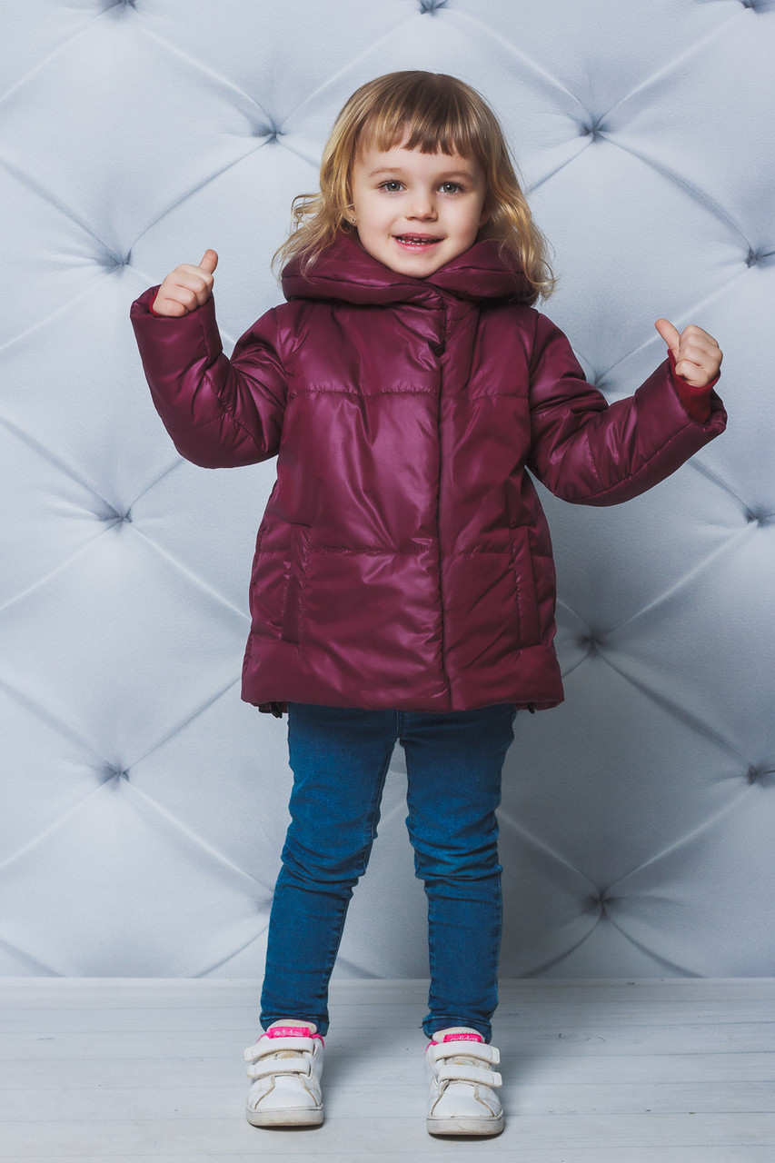 Курточка для девочки демисезонная Бордовая