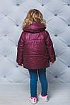 Курточка для девочки демисезонная Бордовая, фото 2