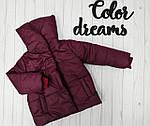 Курточка для девочки демисезонная Бордовая, фото 5