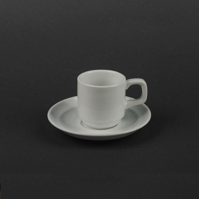 Чашка 90мл с блюдцем фарфоровые