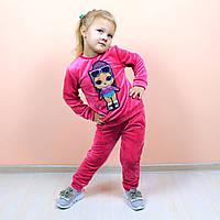 Детский костюм велюровый LОL малиновый размер 116