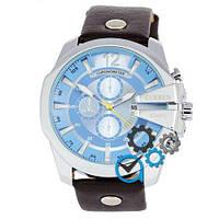 Наручные мужские часы Curren Silver-Black Blue dial 8176-4