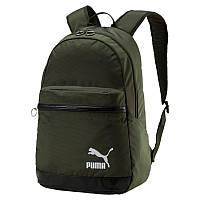 Рюкзак спортивный Puma Orginals Daypack 075086 06 (зеленый, мягкие ремни, отсек под ноутбук, 20 л, бренд пума)