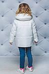Курточка для девочки демисезонная Белая, фото 2