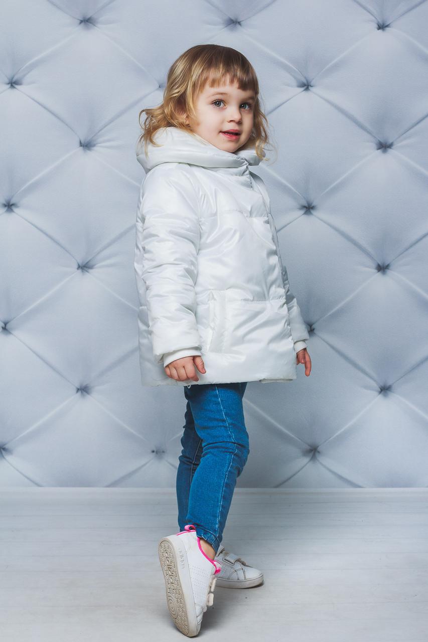 Курточка для девочки демисезонная Белая