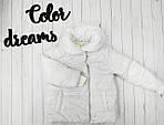 Курточка для девочки демисезонная Белая, фото 3