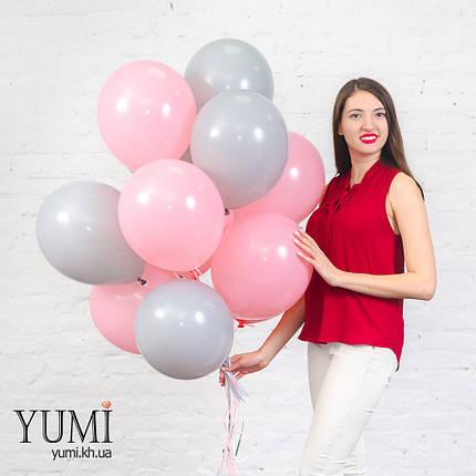 Нежная связка для девочки из 15 гелиевых шариков, фото 2