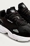 Женские кроссовки Adidas falcon black & white, фото 7