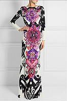 Красивое яркий  принт длинное платье в пол  PUCCI