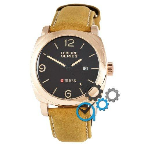 Наручные мужские часы Curren 8158 Gold-Black Original