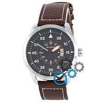 Наручные мужские часы Curren Silver-Brown Black dial 8210-1