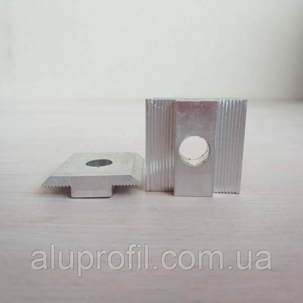 Алюминиевый профиль — Прижим межмодульный алюминиевый 33х12/30мм Б/П