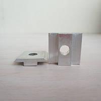 Алюминиевый профиль — Прижим межмодульный алюминиевый 33х12/30мм Б/П, фото 1